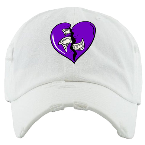PG Apparel 'Heart Breaker' Hat (White/Purple)