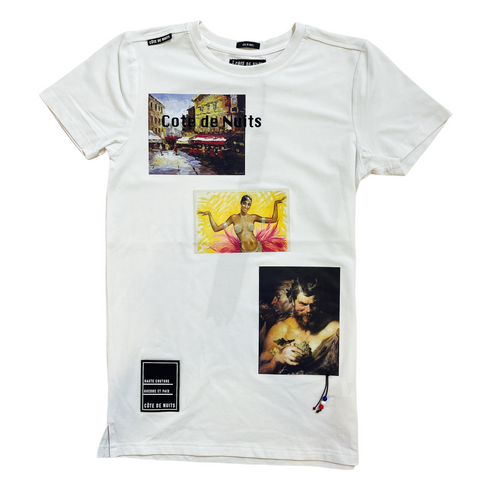 Cote De Nuits 'Artwork' T-Shirt (White)