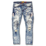 Makobi Cambria Shredded Denim w/ Side Pockets (Dirt Wash)