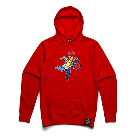 Hasta Muerte 'Angel' Chenille Patch Hoodie (Red)