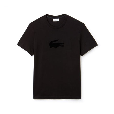 Lacoste Oversized Crocodile T-Shirt (Black)