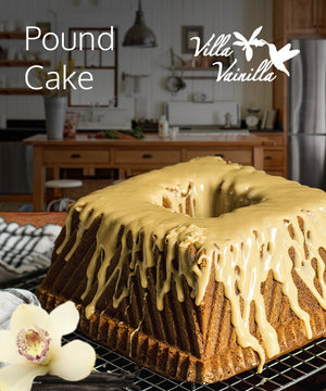 Pound Cake With Chocolate Honey Glaze