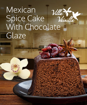 Mexican spice cake with chocolate glaze