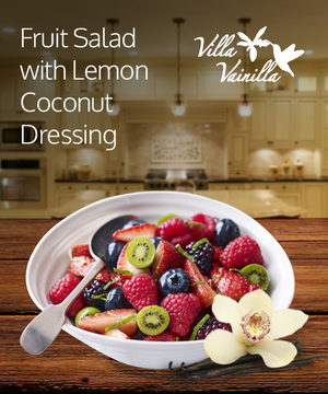Fruit Salad with Lemon Coconut Dressing