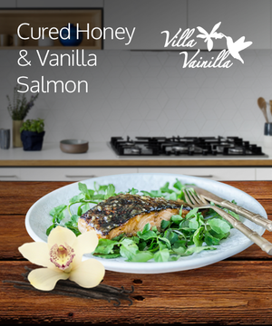 Cured Honey & Vanilla Salmon