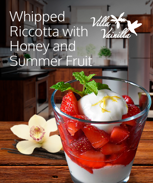 Whipped Riccotta with Honey and Summer Fruit