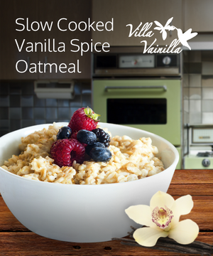 Slow cooked vanilla spice oatmeal