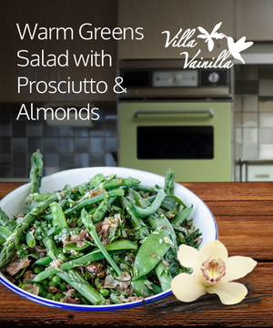 Warm Greens Salad with Prosciutto & Almonds