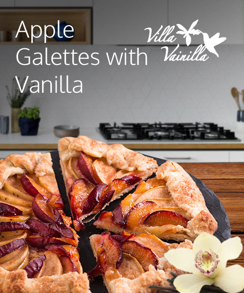 Apple Galettes With Vanilla Chantilly Cream