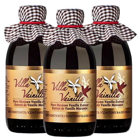 3-Pack Villa Vainilla Pure Mexican Vanilla Extract 8.4 oz