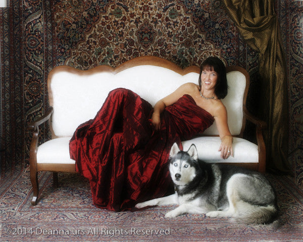 Joannie and her Husky