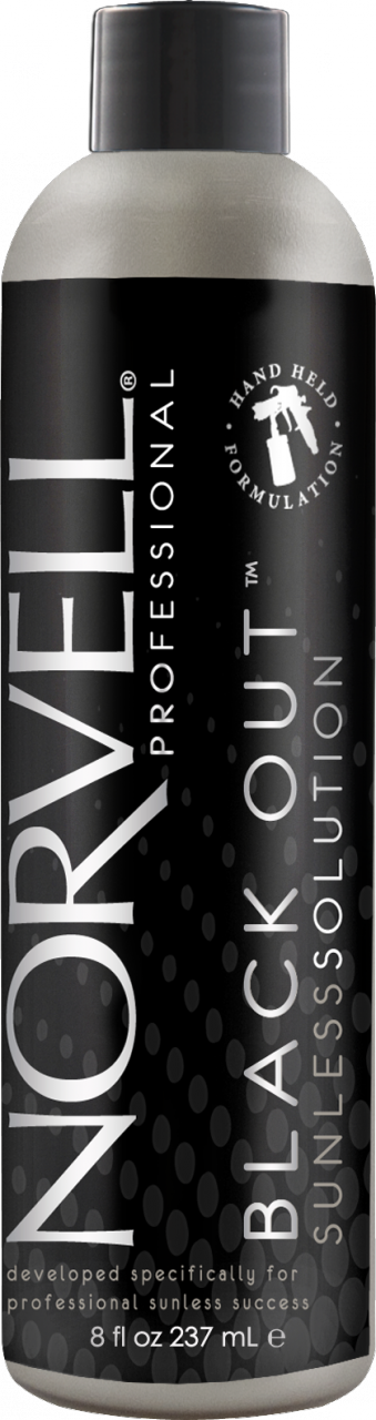 Norvell Black Out Pro Competition Winning Color Handheld Solution 8 oz. , Airbrush Solutions, Norvell, Sunless Deals