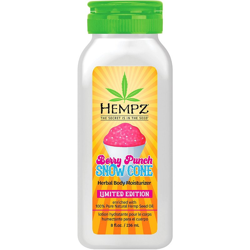 Hempz Berry Punch Snow Cone Herbal Body Moisturizer 8oz.