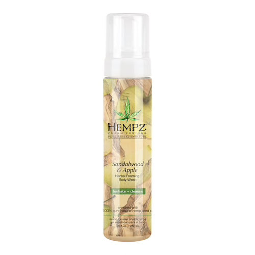 Hempz Sandalwood & Apple Body Foaming Body Wash 8.5oz