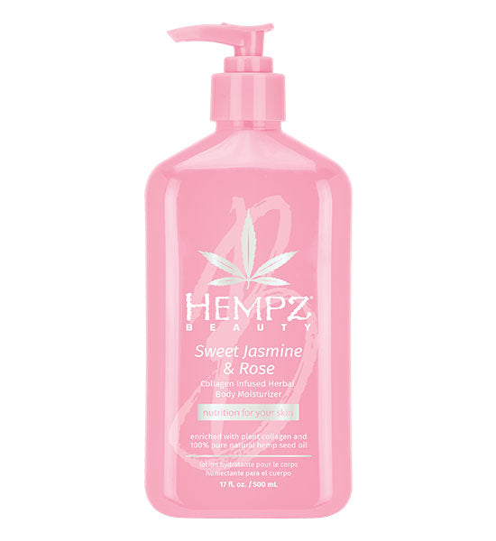 Hempz Beauty Sweet Jasmine & Rose Collagen Infused Moisturizer 17oz