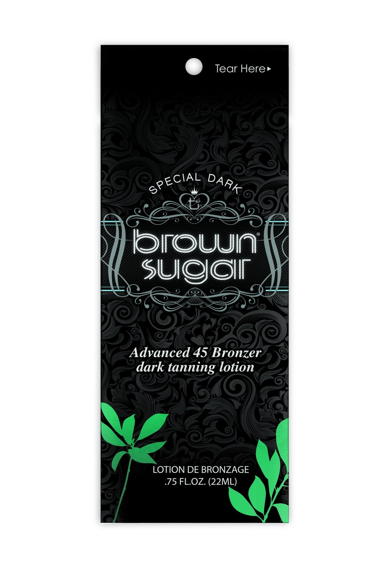 Special Dark Brown Sugar Tanning Lotion Packet