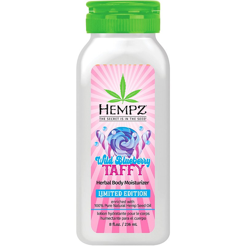 Hempz Wild Blueberry Taffy Herbal Body Moisturizer 8 oz.