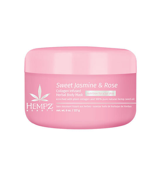 Hempz Beauty Sweet Jasmine & Rose Collagen Infused Body Mask 8oz