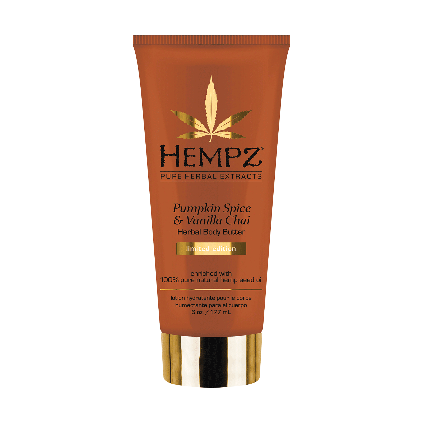 Hempz Pumpkin Spice & Vanilla Chai Herbal Body Butter 6 fl.oz