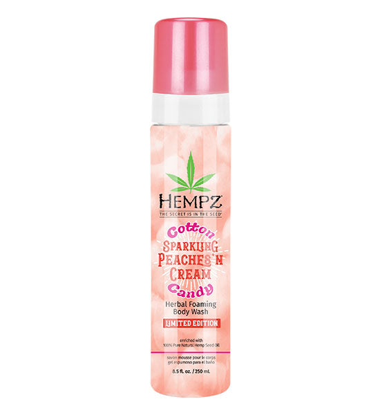 Hempz Cotton Candy Sparkling Peaches & Cream Foaming Body Wash 8.5oz