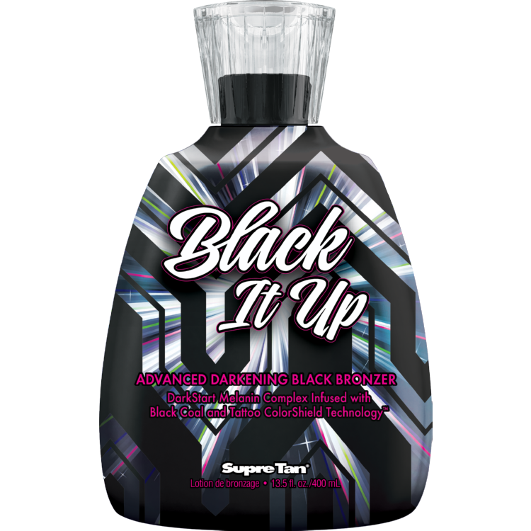 Supre Tan Black it Up Black Bronzer Tanning Lotion