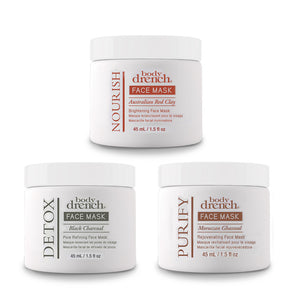 Body Drench Multi-Tasking Mud Face Masks 3 Piece Kit , Face, Body Drench, Sunless Deals