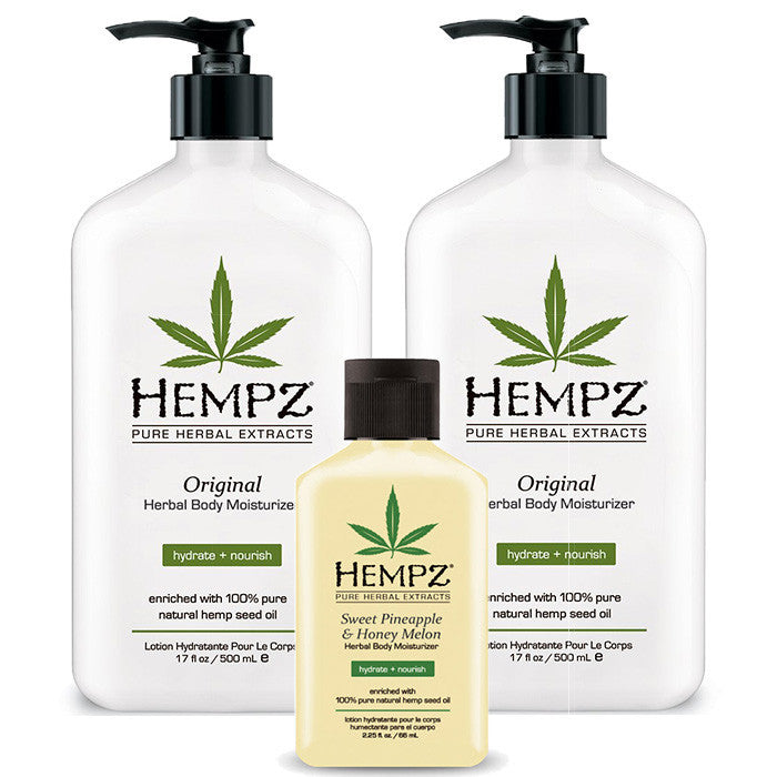 Buy Two Hempz Lotions (17 oz.) , Receive A Travel Size Free , Moisturizer, Hempz, Sunless Deals