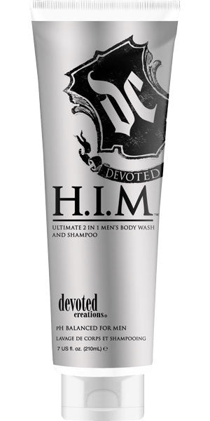 H.I.M. Body Wash & Shampoo 7 oz. , For Men, Devoted Creations, Sunless Deals