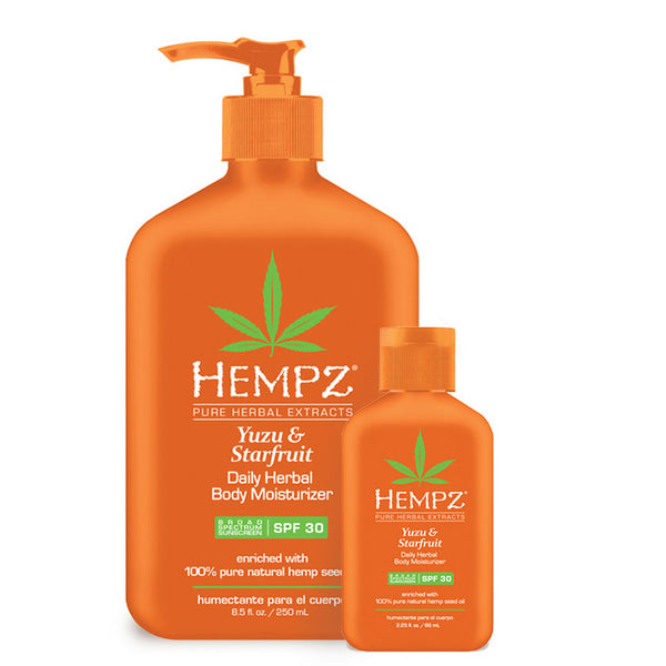 Hempz Buy One, Get Free Travel Size - Yuzu & Starfruit Daily Herbal Body Moisturizer With Spf 30 , Moisturizer, Hempz, Sunless Deals