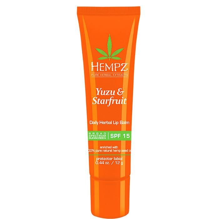 Hempz Yuzu & Starfruit Daily Herbal Lip Balm , Moisturizer, Hempz, Sunless Deals