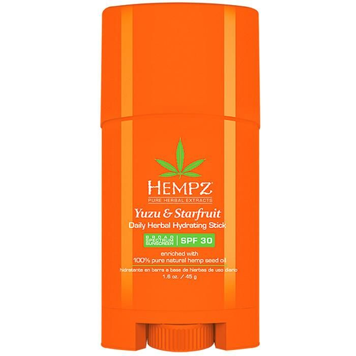 Hempz Yuzu & Starfruit Daily Herbal Hydrating Stick w Spf 30 1.6 oz. , Moisturizer, Hempz, Sunless Deals