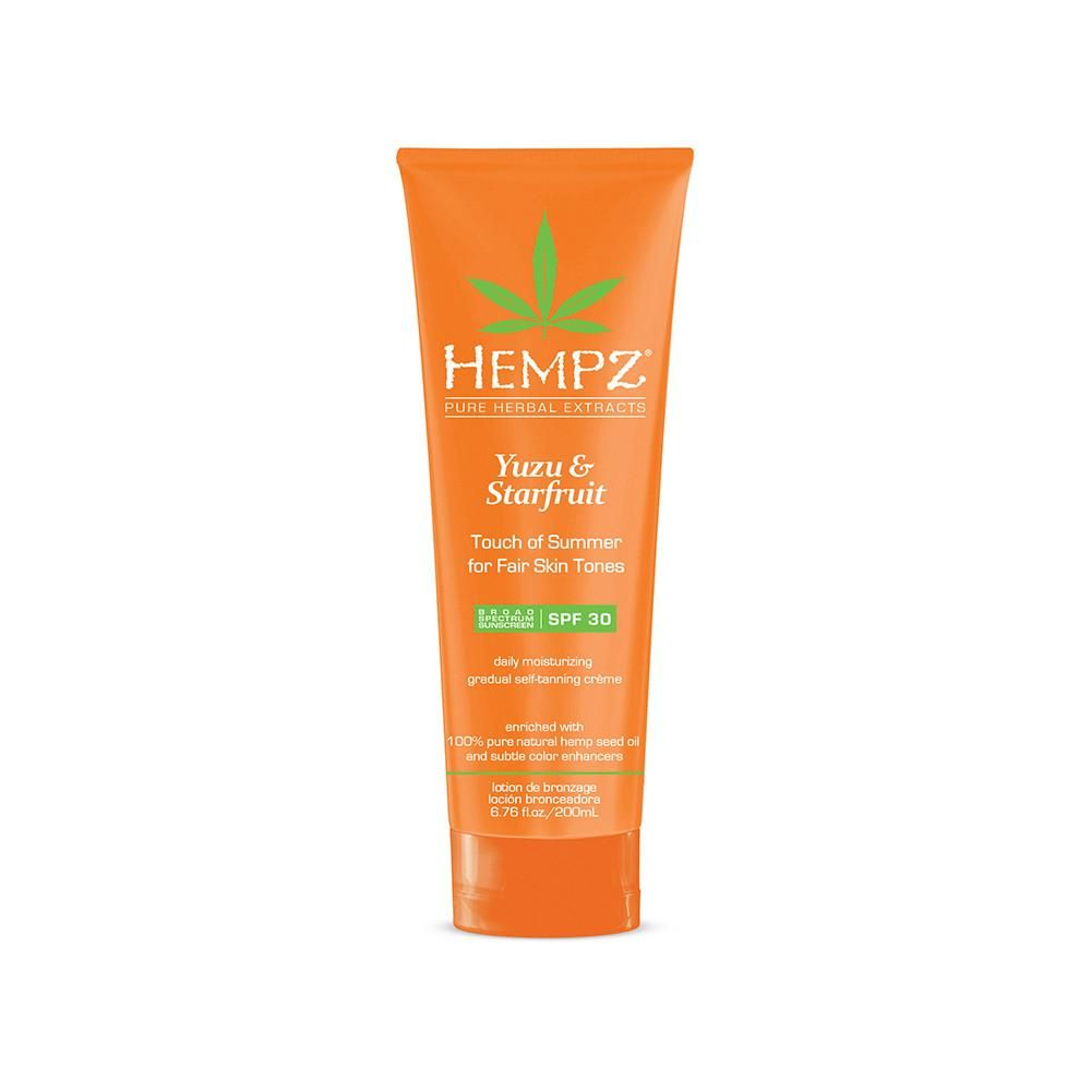 Hempz Yuzu & Starfruit Touch of Summer Self Tanner 6.76 oz-Sunless Deals