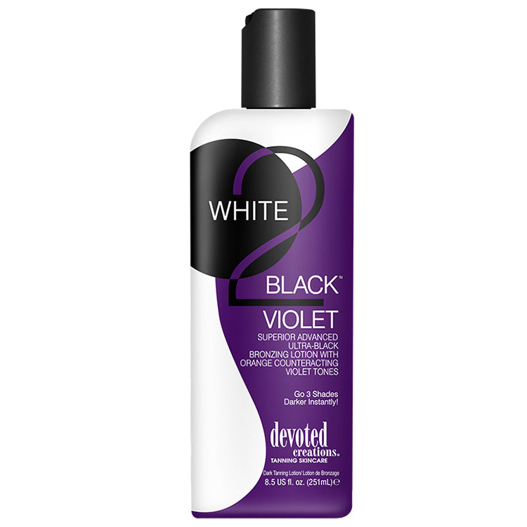 White 2 Black Violet Superior Advanced Ultra-Black Bronzing Lotion 8.5 oz.