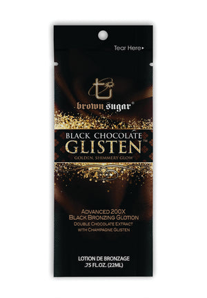 Black Chocolate Glisten Bronzer Tanning Lotion Packet