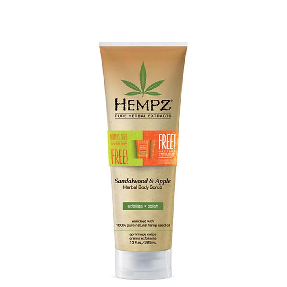 Bonus Size Hempz Body Scrub - Sandalwood & Apple 13 oz.-Sunless Deals