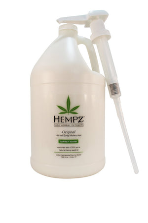 Hempz Original Herbal Body Moisturizer 1 Gallon W Pump-Sunless Deals