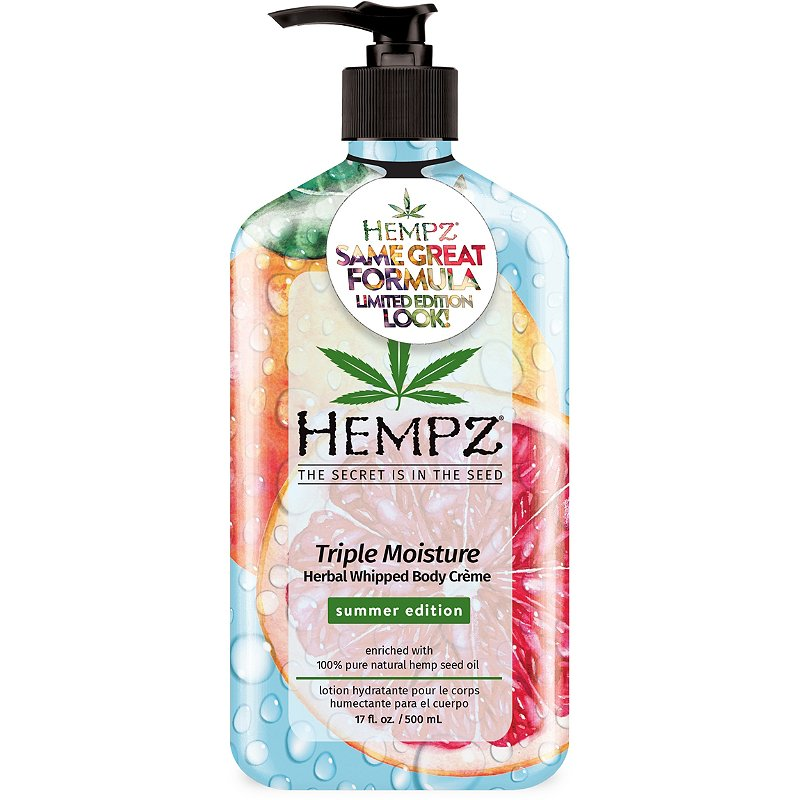 Summer Edition Hempz Triple Moisture Herbal Whipped Body Creme - 17oz
