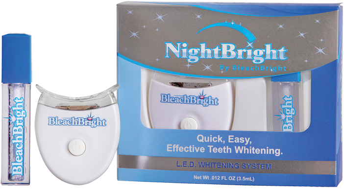 Nightbright At Home L.E.D. Teeth Whitening System Bleachbright , Teeth Whitening, Sunless Deals, Sunless Deals