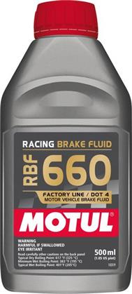 Motul RBF660 DOT4 Racing Brake Fluid (500ml)