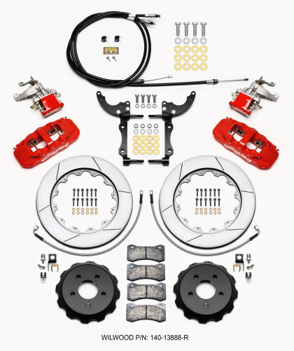 Wilwood 4 Piston Big Brake Kit Rear for 15+ Mustang