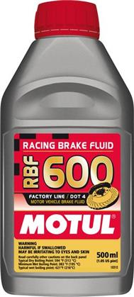 Motul RBF600 DOT4 Racing Brake Fluid (500ml)