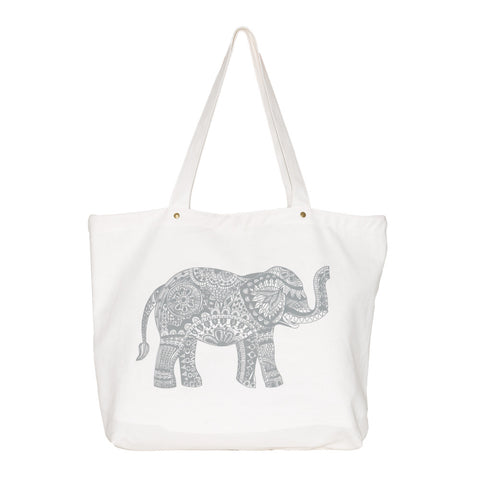 Grey Spring Dialogue Tote Bag