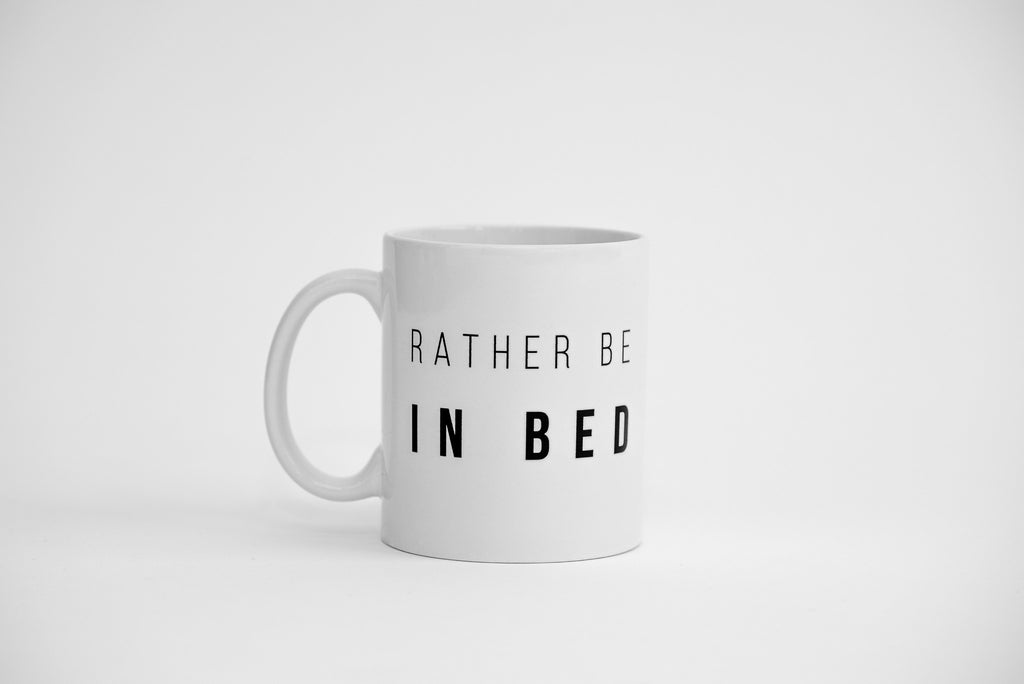 Dialogue Coffee Mug // Rather Be In Bed