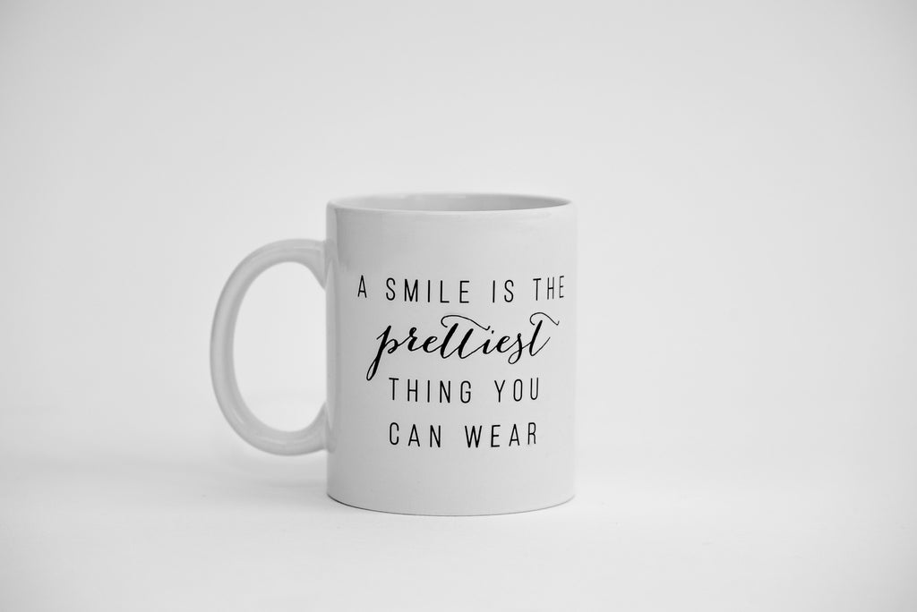 Dialogue Coffee Mug // A Smile Is The Prettiest Thing