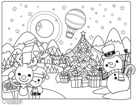 APACHE ROSE CHRISTMAS COLOURING PAGE