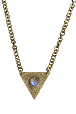 TRIANGLE MOONSTONE NECKLACE - barton&bell