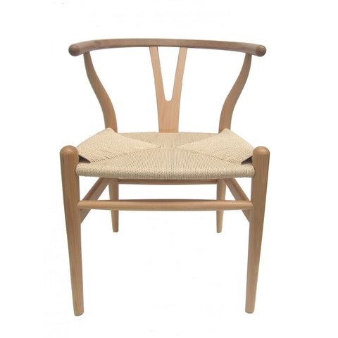 WISHBONE CHAIR, NATURAL
