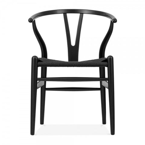 WISHBONE CHAIR, BLACK