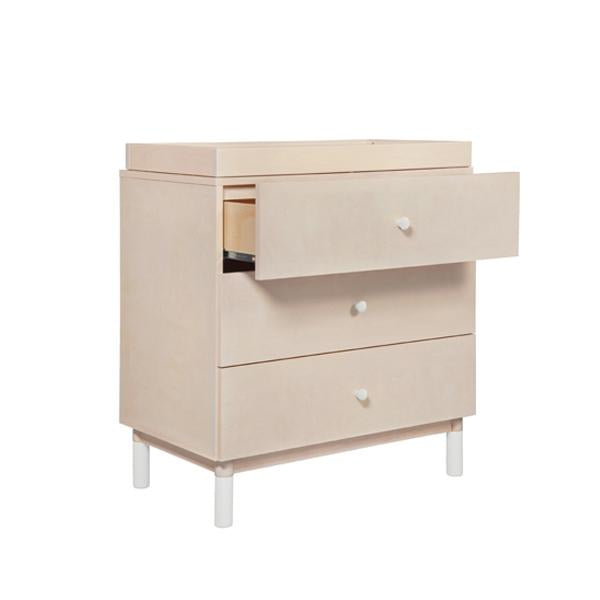 BABYLETTO GELATO 3 DRAWER CHANGER, WASHED NATURAL / WHITE
