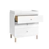 BABYLETTO GELATO 3 DRAWER CHANGER / DRESSER,  WHITE / WASHED NATURAL